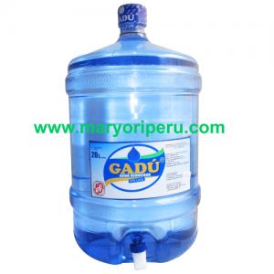 Envase +Agua de mesa Gadu con caño  20 litros retornable