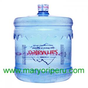 Agua mineral San Mateo 21 litros retornable
