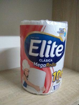 Papel Toalla Elite Mega Rollo Clasico x 106 hojas