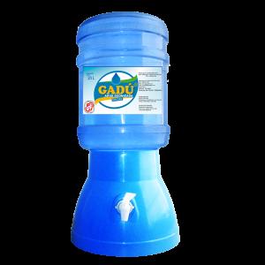Surtidor celeste + envase+ bidón de agua de mesa Gadu 20 litros