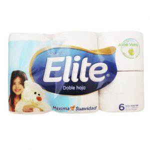 Papel Higienico Elite Doble Hoja X 6 unid.