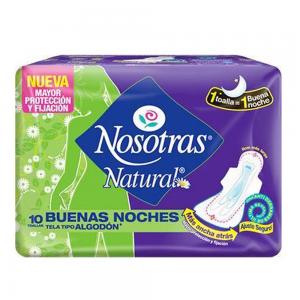 Toalla Higienica NOSOTRAS Buenas Noches 10 Unid.