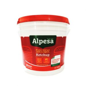 ketchup alpesa balde x 4 kg