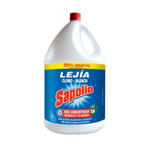Lejia sapolio cloro- bleach x 5 litros