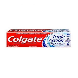 Colgate Crema Dental Triple Accion Extra Blancura x 45 ml