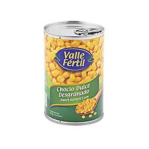 Valle fertil choclo dulce desgranado x 432 gr